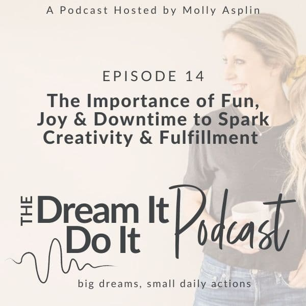 The Importance of FUN, Joy, & Downtime to Spark Your Creativity & Fulfillment