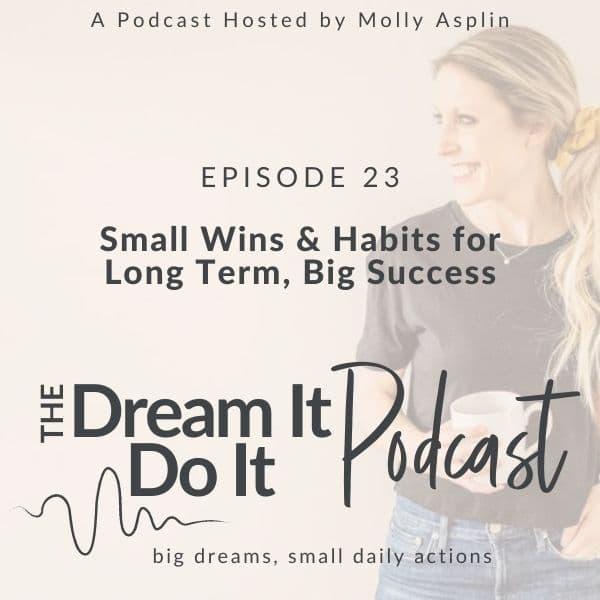 Small Wins & Habits for Long Term, Big Success