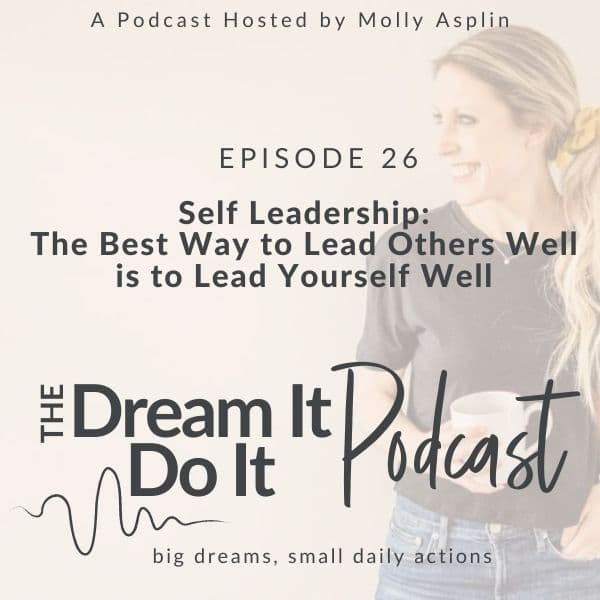 Self Leadership: The Best Way to Lead Others Well is to Lead Yourself Well